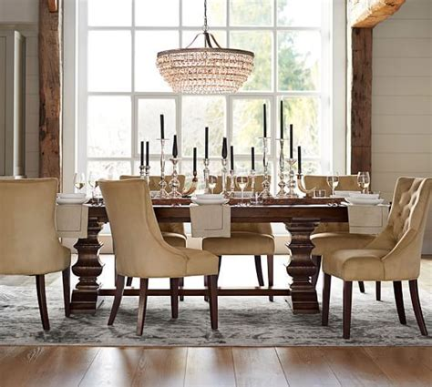pottery barn dining room banks extending dining table pottery tables and