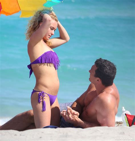 Hayden Panettiere wore a bikini on the sand with Wladimir ...