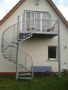 balkon anbaubalkon verzinkt wendeltreppe pulverbeschichtet With garten planen mit außentreppe für balkon