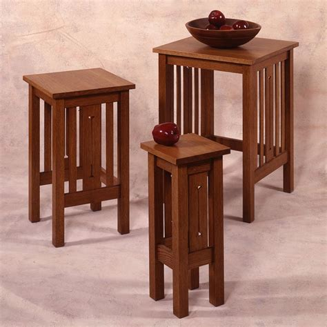 arts and crafts table ls arts and crafts nesting tables woodworking plan from wood
