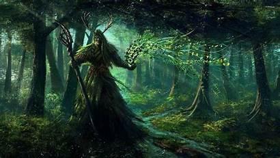 Fantasy Dark Forest Fiction Moon Druids Science