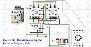Forward Reverse Starter With Timer 3 Phase Motor Wiring Diagram