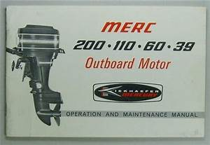 Original 1968 Mercury Outboard Owners Manual  Guide 200