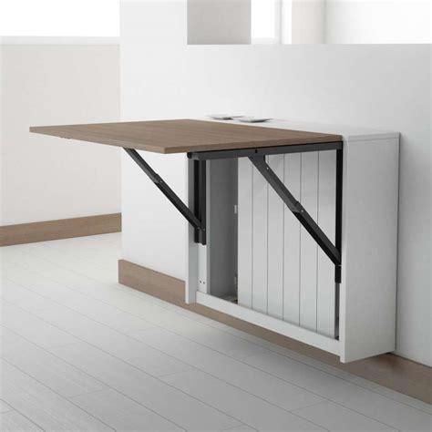 table de cuisine retractable table murale rabattable en mélaminé block 4 pieds