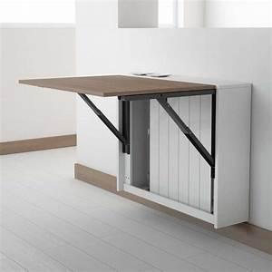 Table Pliante Metal : table murale rabattable en m lamin block 4 pieds ~ Teatrodelosmanantiales.com Idées de Décoration