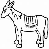 Donkey Drawing Coloring Pages Mexican Burro Colouring Colorluna Drawings Cliparts Clip Clipart Luna Clipartmag sketch template