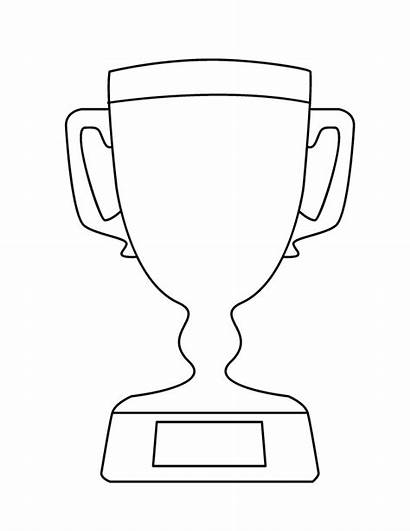 Trophy Coloring Pages Clipart Outline Dad Place