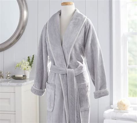 pottery barn robe plush whipstitch luxe robe pottery barn