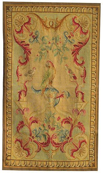 Aubusson Upholstery Fabric by Aubusson Tapestry Featuring Parrots And Other Birds My