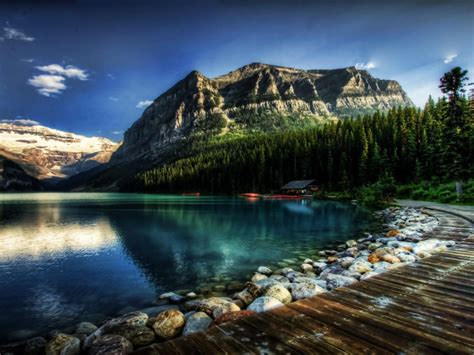 lake louise alberta canada fantastic desktop wallpaper