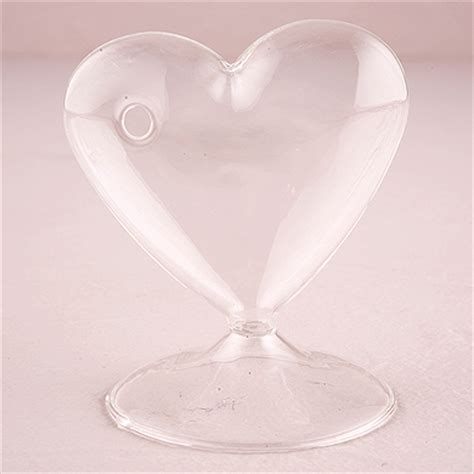 glass heart shaped vase  knot shop