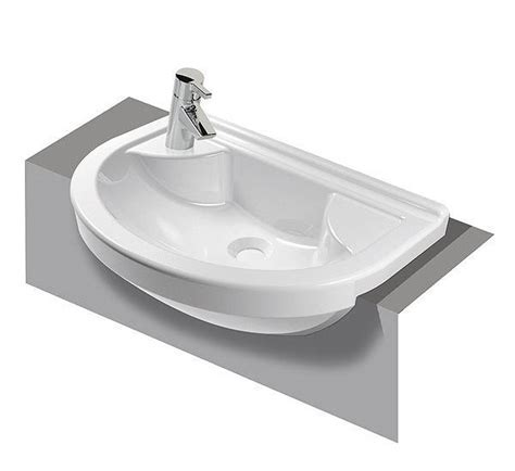 VitrA S50 Round Compact 550mm 1 Tap Hole Semi Recessed