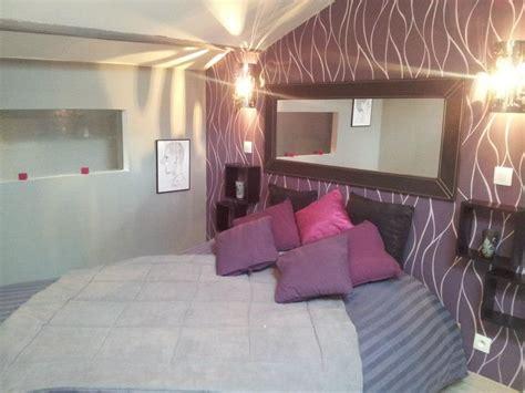 chambre grise et prune chambre parentale photo 1 3 3508476