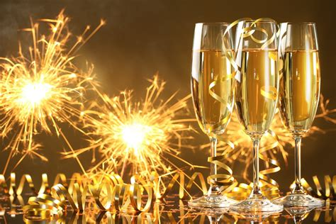 inspirational champagne happy  year hd