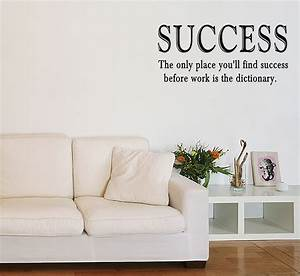 Success work vinyl wall quote sticker saying decor