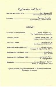 awards banquet order of ceremony template http www With class reunion program template