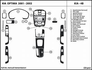 Dash Kit Trim Cover For Kia Optima W   Manual Transmission