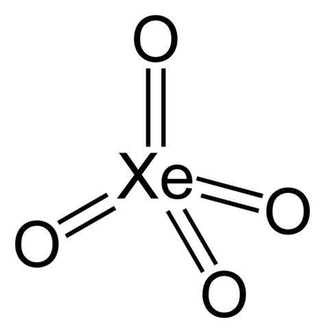 xenon tetroxide form bonds noble gases covalent atom number maximum compound oxygen solid oxidation highest element chem reactions nobel elements