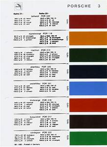 Original Colour Codes For Your 911 Butzi Squared