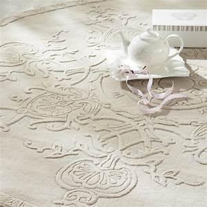 Maison Du Monde Tapis Rond : tapis rond poils courts en laine cru d 200 cm sculpture ~ Zukunftsfamilie.com Idées de Décoration