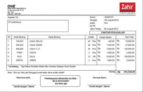 Contoh Faktur Pembelian Jasa by 17 Contoh Invoice Faktur Tagihan Pembayaran Penjualan