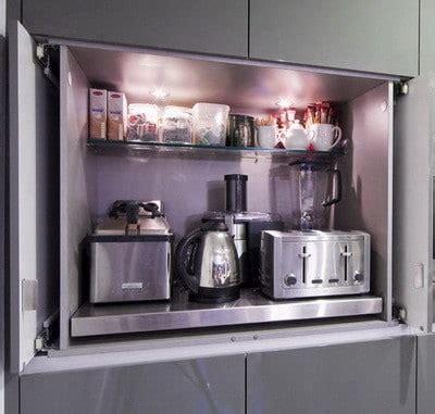 appliance storage ideas  smaller kitchens