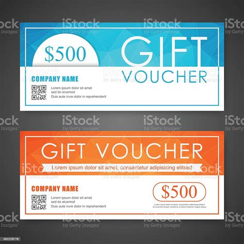 voucher gift certificate coupon template stock