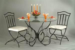 chaise fer forge de salle a manger lot de 2 arabesque With meuble de salle a manger avec lit fer forgé