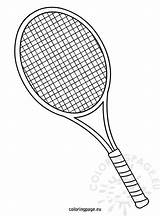 Tennis Racket Coloring Sketch Pages Drawing Coloringpage Eu Sports Table Sheets Badminton Drawings Rackets Clipart Cake Printable Serve Football Activities sketch template
