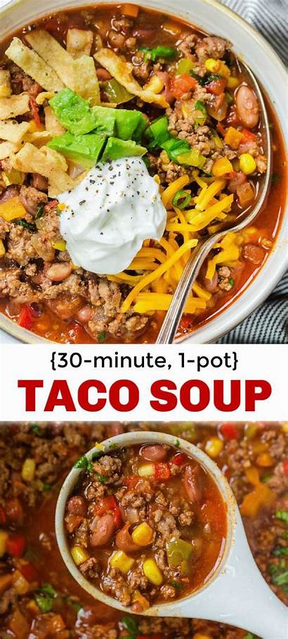 Soup Taco Recipe Easy Easiest Pot Comes