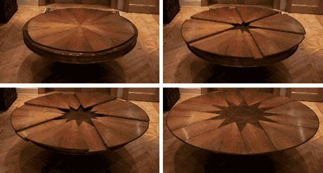 expanding rotating dining table design ideas pinterest