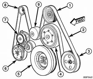I Need A Fan Belt Diagram For A 2005 Dodge 3500 4x4 Diesel