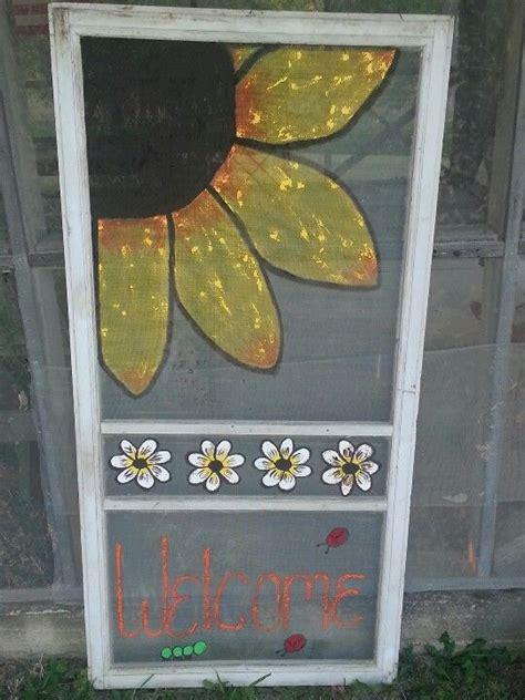 painted screen doors ideas  pinterest dog
