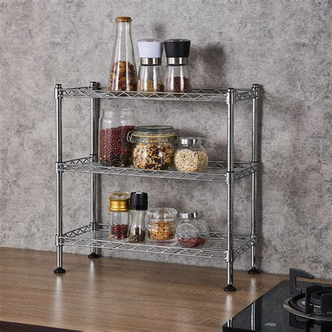veryke  tier kitchen rack wire shelving kitchen shelving  storage  spice rack organizer