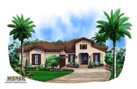 Spanish Mediterranean Style Home Plans