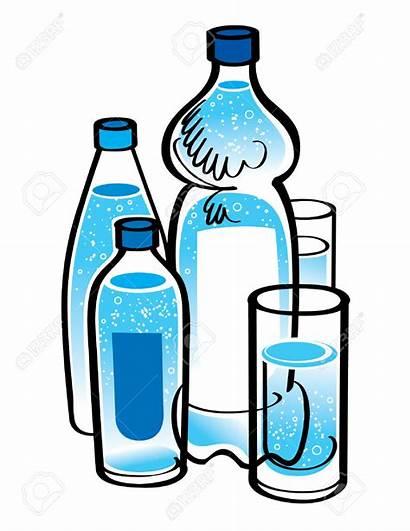 Bottle Water Clipart Glass Mineral Clip Bottled