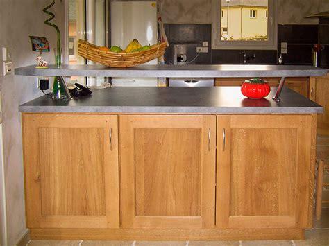 credence stratifié cuisine cuisine chene massif vernis naturel plan de travail en