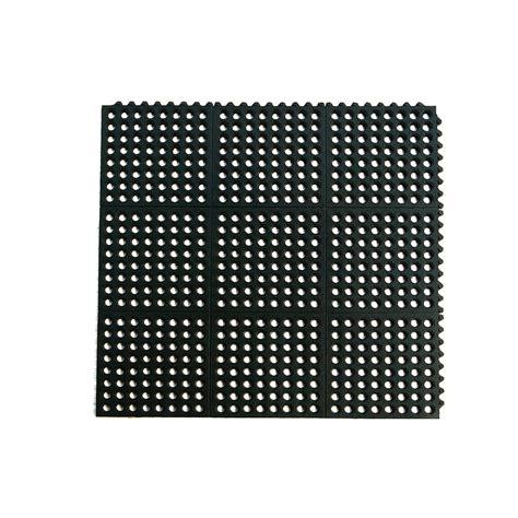 interlocking foam floor tiles lowes shop blue hawk black rectangular door mat common 3 ft x