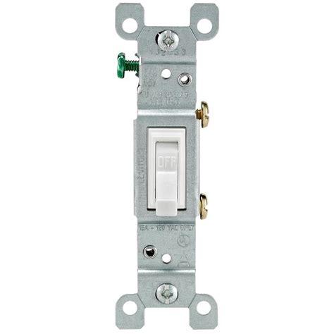 Leviton Amp Single Pole Toggle Light Switch White