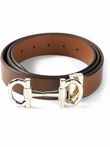 Ferragamo Gancini Buckle Belt in Brown for Men | Lyst