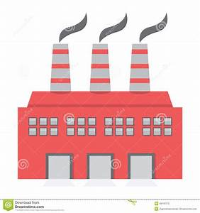 Single Factory Building Flat Design Stock Vector - Image ...