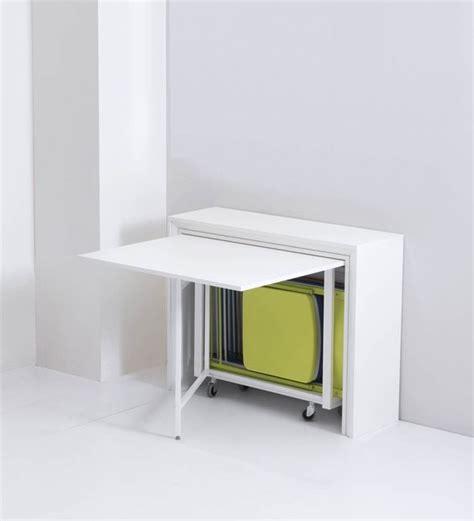 table de cuisine modulable table pliante avec 6 chaises intégrées archi table