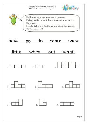 phase 3 tricky words printable worksheets worksheets resources for early years high