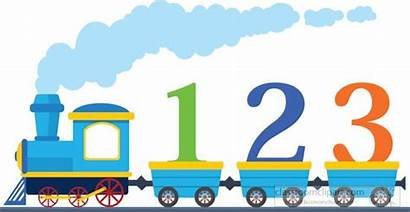 Train 123 Clipart Numbers Learning Loaded Transportation