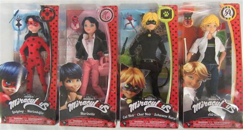 Miraculous Lot of 12″ Dolls Cat Noir Adrien Marinette ...