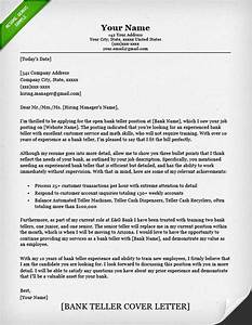 bank teller cover letter sample resume genius With cover letters for bank tellers