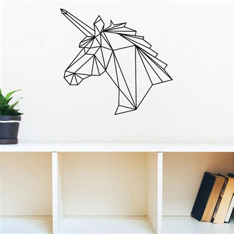 geometric unicorn wall decal vinyl art wall decor stickers