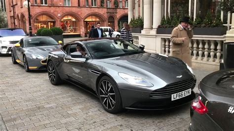 Aston Martin Rev Battle In London! Brand New Vanquish S