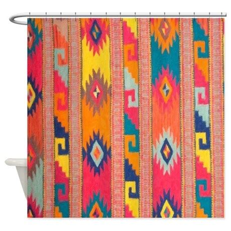 indian blanket 4 shower curtain by aaanativearts