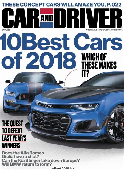 car and driver car and driver usa january 2018 free pdf magazine